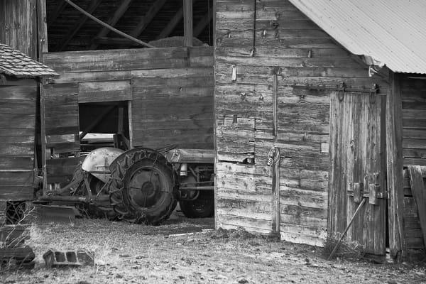 Old Barn and Tractor, Riverbottom Road, Kittitas County, Washington, 2011