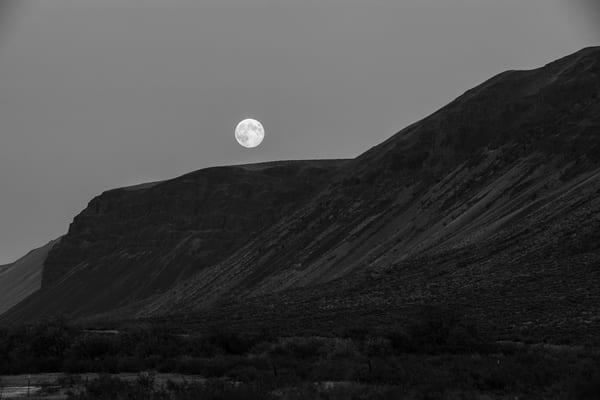 Blue Moon Over the Saddle Mountains, Washington, 2012
