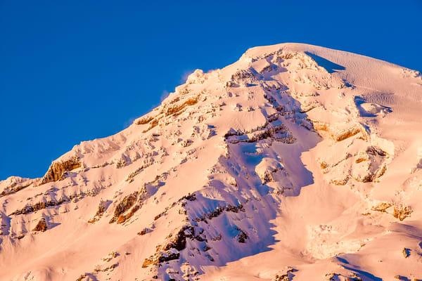 Winter Alpenglow, Mount Rainier, Washington, 2017