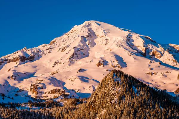 Winter on Mount Rainier, Washington, 2017