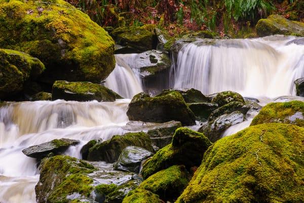 Winter Waterfall, O'Toole Creek, Skagit County, Washington, 2017