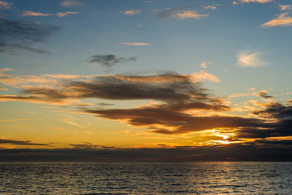 August Sunset, Hastie Lake Boat Launch, Whidbey Island, Washington, 2016