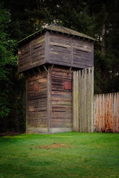 Blockhouse, Fort Nisqually, Washington, 2014