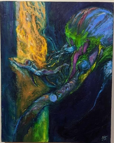 LaMont Sudduth - science fiction art - A Narrow Escape