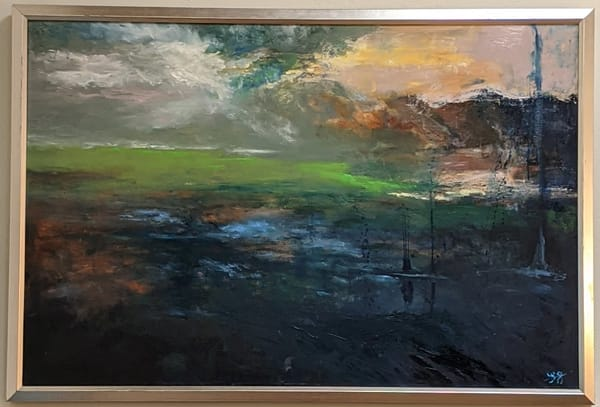 LaMont Sudduth - impressionistic landscape - Welcome to the New World