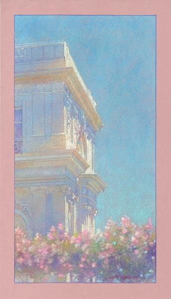 Rosecliff Arbor  Art | Andre Junget Illustration LLC