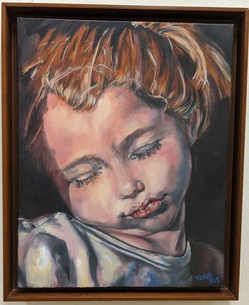 Renee Crouser - realism - portrait - Sleeping Sweetly