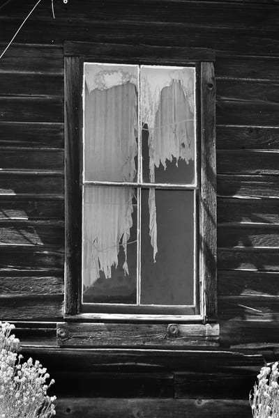 Old Window in Bodie Photograph – B&W Art Photography - Fine Art Prints on Canvas, Paper, Metal & More