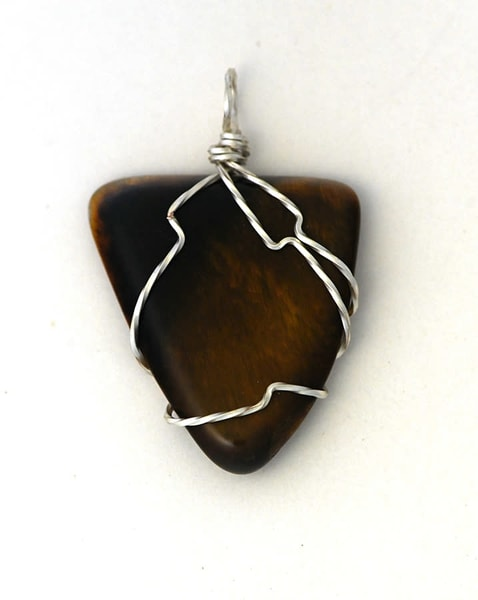 Golden Tiger Eye Pendant Art | artalacarte