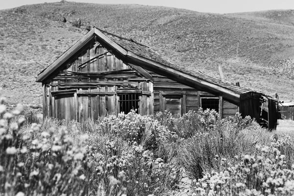 Old House in Bodie Photograph – B&W Art Photography - Fine Art Prints on Canvas, Paper, Metal & More