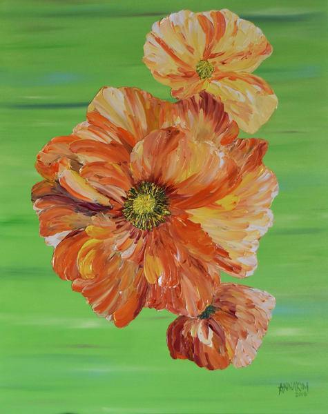 Orange Poppies Art | Anna Kim Studio