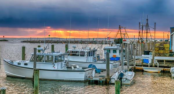 Menemsha Harbor Sunbeams Photography Art | Michael Blanchard Inspirational Photography - Crossroads Gallery