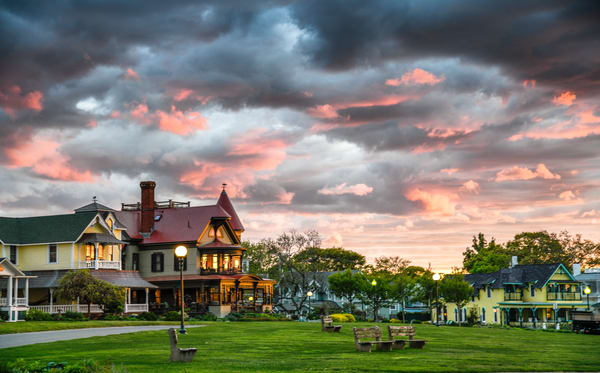 Norton House Pink Clouds Photography Art | Michael Blanchard Inspirational Photography - Crossroads Gallery