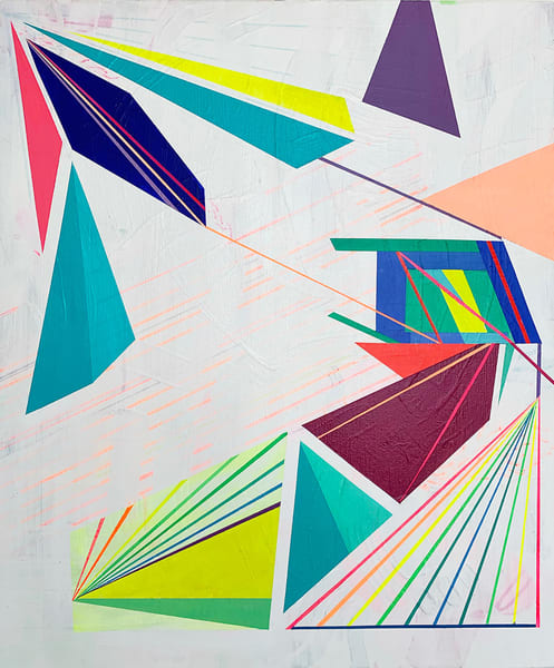 Caroline Geys | Triangles in a Hazy Space | Abstract Neon