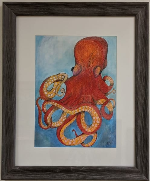 Brett Duncan - animals - sea creatures - Octopus in Red