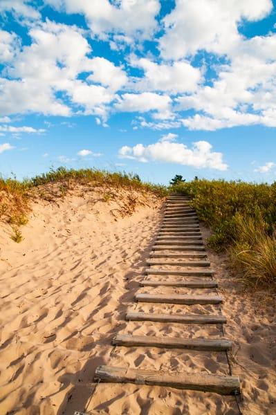 Stairway heaven dunes summer lakemichigan
