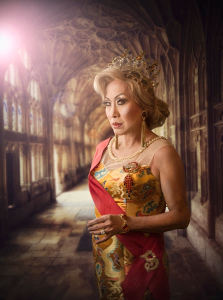 Limited edition Encaustic, Coco LaChine Empress VII, The Celestial Dragon Empress,