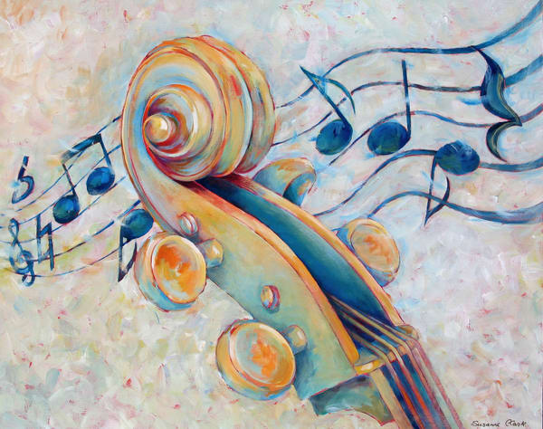 Blue Notes (Original Artwork) Art | Susanne Clark