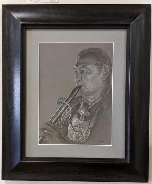 Dan Garcia - Native American - colored pencil - Flute Maker