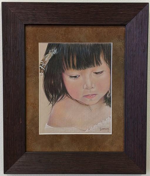 Dan Garcia - Native American - colored pencil - Little Feather