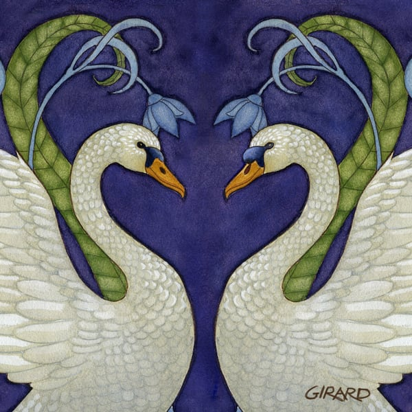 Swan Love Bird Block | Studio Girard