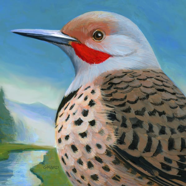 Northern Flicker Bird Block | Studio Girard