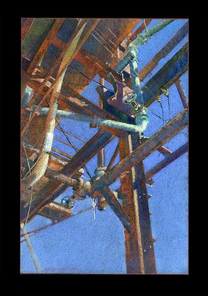 Carrie Furnace 2 Valves Art | Andre Junget Illustration LLC
