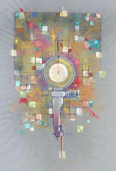 Last Word Indicator After Jim Dine And Paul Klee Art   Andre Junget Illustration LLC