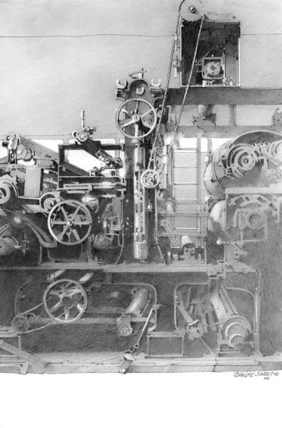 Textile Machine Art | Andre Junget Illustration LLC