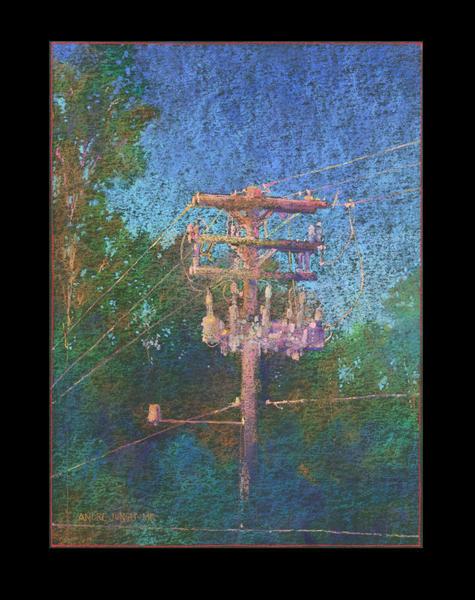 Utility Pole 2 Art | Andre Junget Illustration LLC