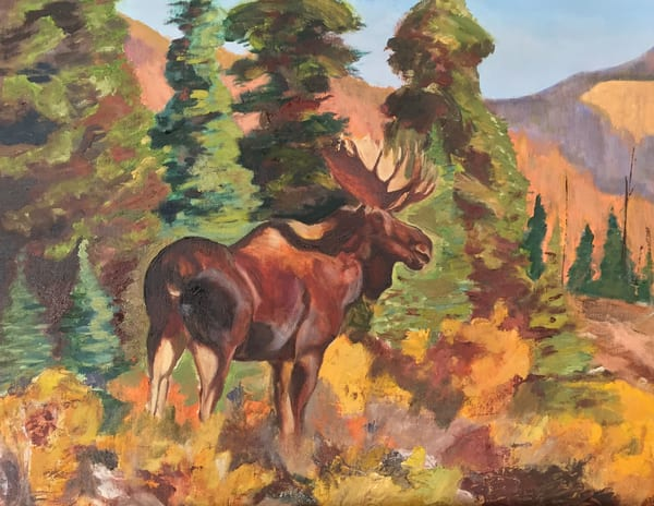 Moose Afternoon Art | Scott Dyer Fine Art