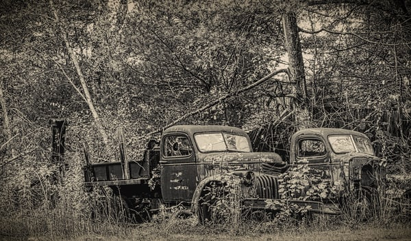 Two Oldtimers Photography Art | Paul J Godin Photography
