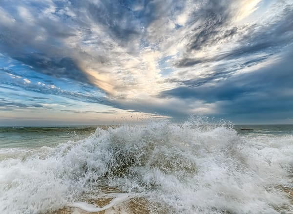 Mochup Beach Splash And Clouds Photography Art | Michael Blanchard Inspirational Photography - Crossroads Gallery