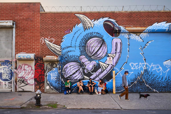 Sleeping Monster Mural, Bushwick Art | Jason Homa