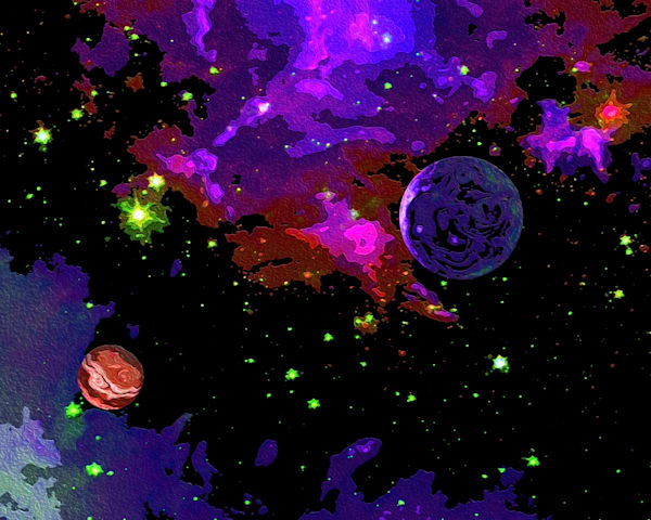 Two Planets In Space Art | Don White-Art Dreamer