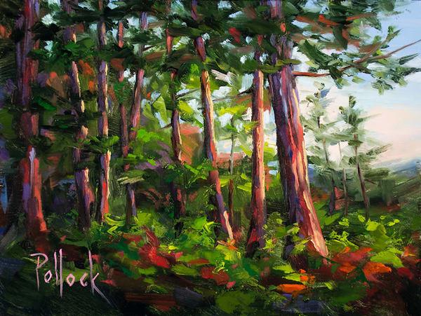 Study, At the Wood's Edge oil painting | Sarah Pollock Studio