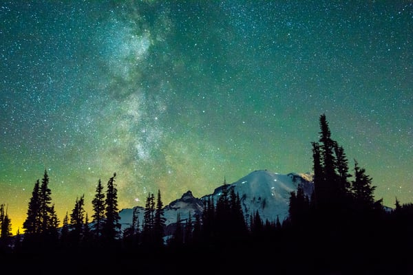 Rainier Green Glow Photography Art | Call of the Mountains Photography