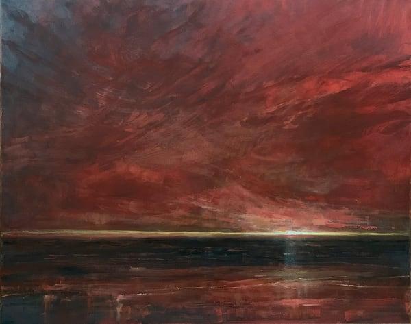 Jill basham red skies 24x30 auuhah