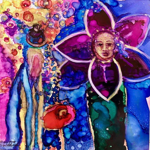 "Gorgeous prophetic art ""Revival Fire Morning Glory"" this is based on a heavenly vision by Monique Sarkessian."