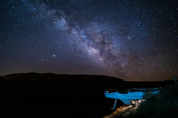 Milky Way Over Galaxy, Bluff Utah Photography Art | John Gregor Photography