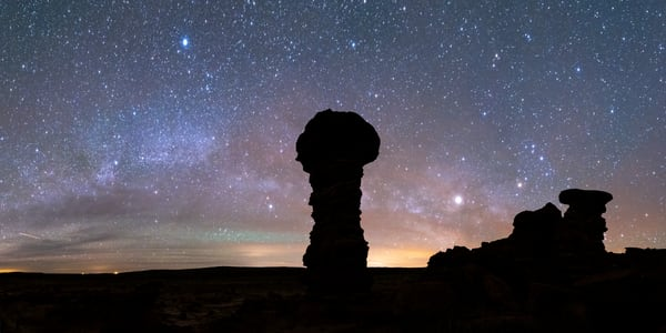 Hoodoo With Milky Way, Recapture Pocket Photography Art | John Gregor Photography