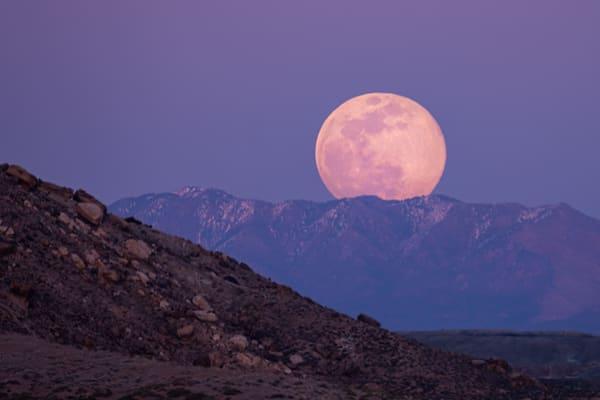 Super Moon Over Sleeping Ute Mountains Photography Art | John Gregor Photography
