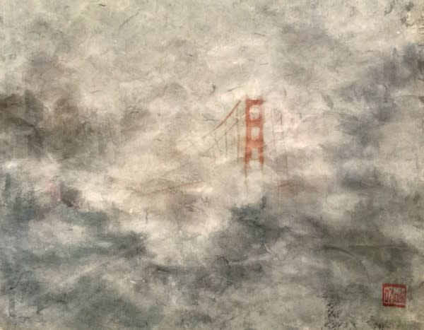 Foggy Bridge  Art | donnadacuti