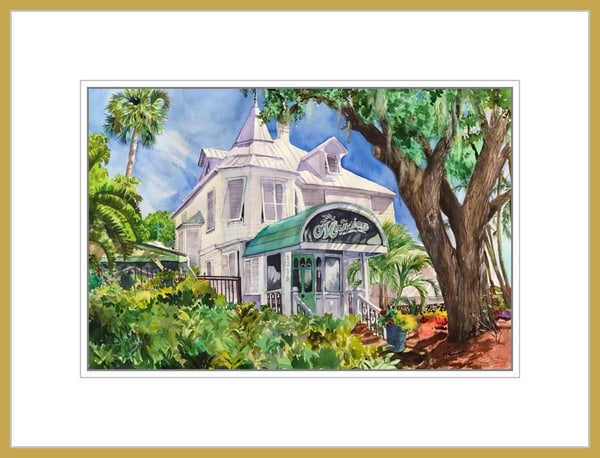 The Mansion - Original Watercolor Painting