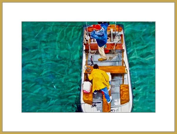 Indian River Fishing - Original Watercolor Painting