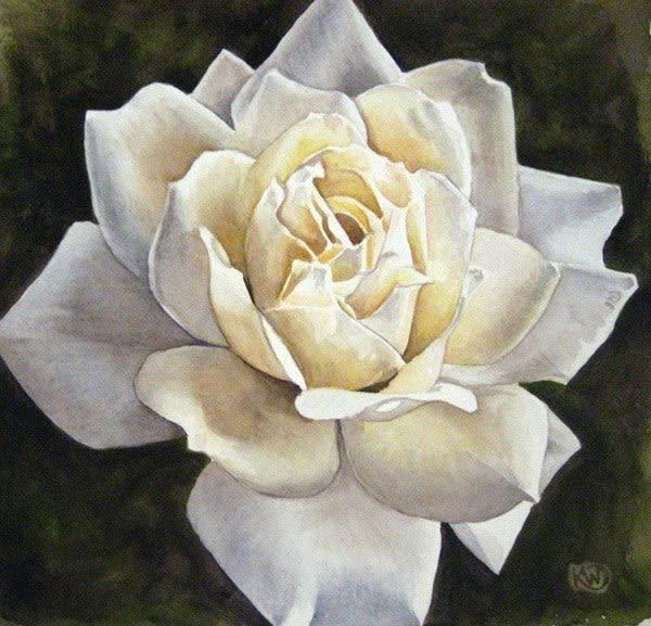 White Rose Art   Water+Ink Studios