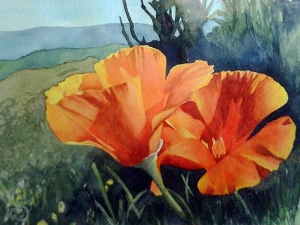 Golden Poppies Art   Water+Ink Studios