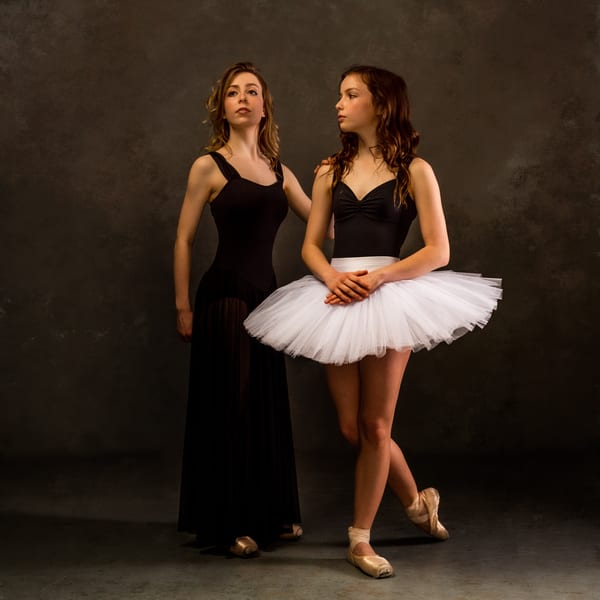 Sisters Jill and Polly, Dancers, Posing