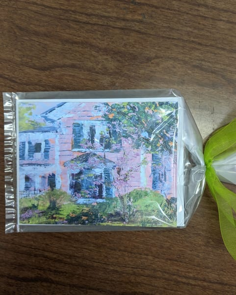 Elaine Ford - note cards - Pink House
