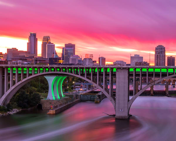 Pink And Purple Minneapolis Sunset Photography Art | William Drew Photography